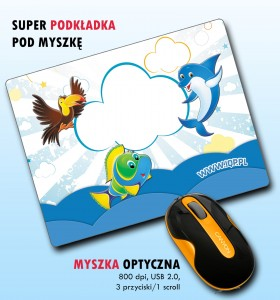 PC Super Optical Mouse 800 DPI + podkładka