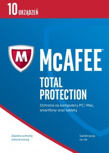 McAfee 2017 Total Protection 10 Devices PL